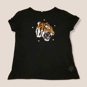 express — tiger star printed tshirt